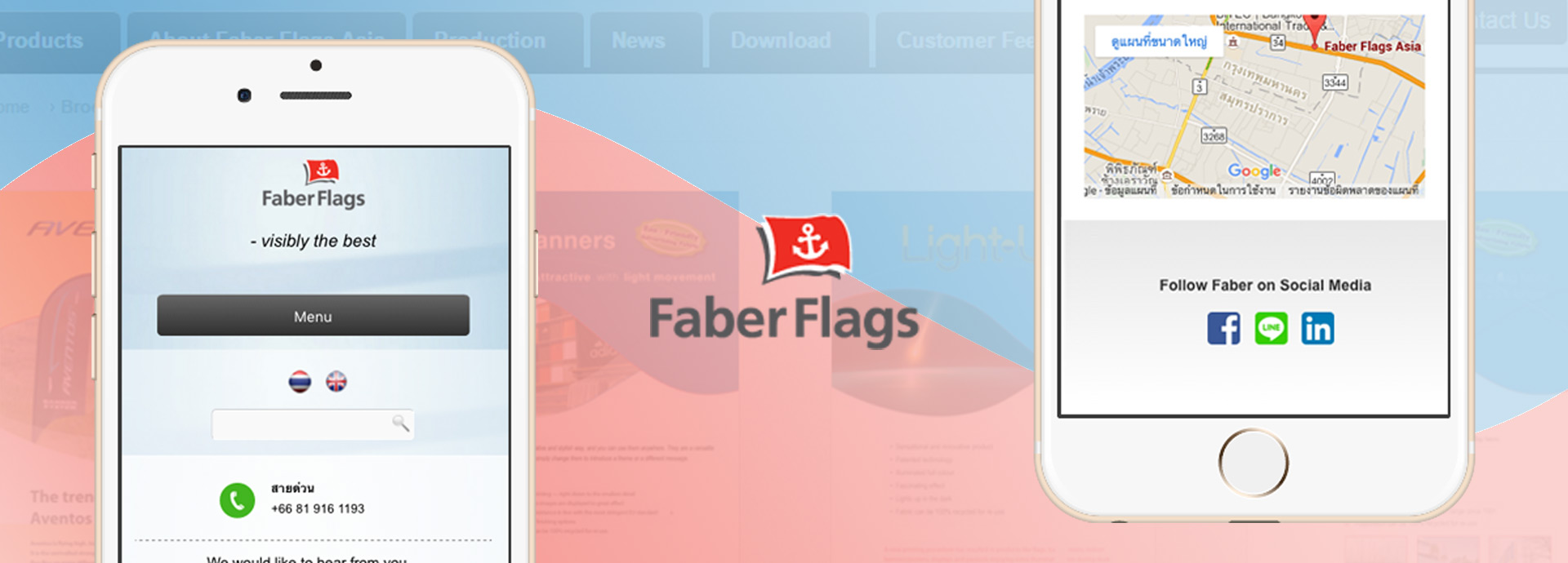 Clicksee Design Portfolio: Faber Flags