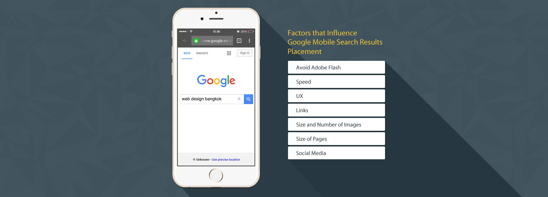 Factors that Influence Google Mobile Search Results Placement