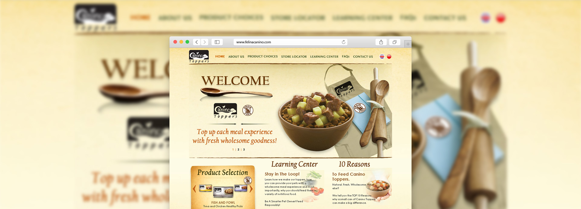 ClickseeDesign Develops New Website for Canino Toppers